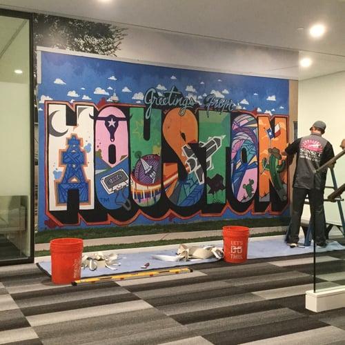 Houston graffiti - Sunset Glass Tinting
